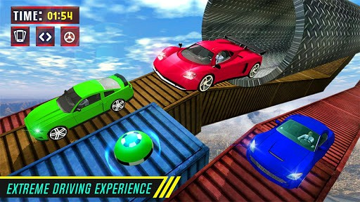 Tricks Master Impossible Car Stunts Racer 2018 is like Dirt Trackin Sprint Cars