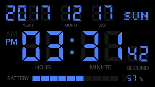Simple Digital Clock - DIGITAL CLOCK SHG2 FREE screenshot