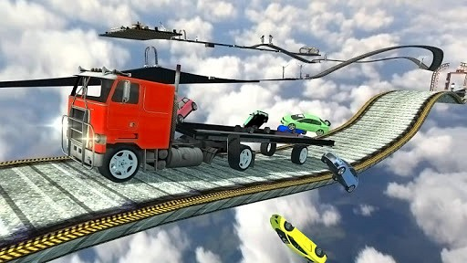 Impossible 18 Wheels Cargo Transporter 3D vs Dirt Trackin Sprint Cars