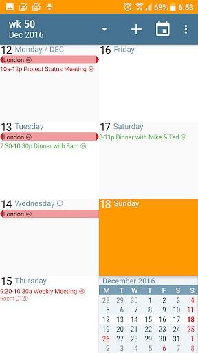 aCalendar - Android Calendar game
